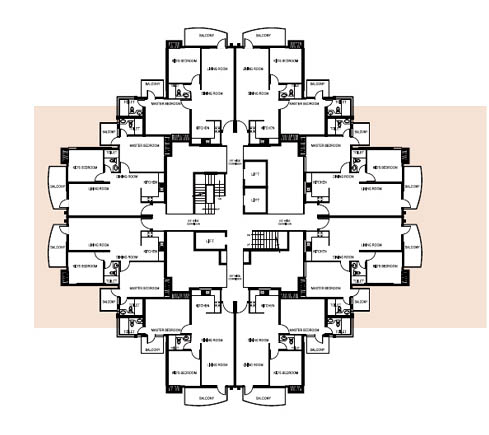 1250 Sq.Ft Tower Layout