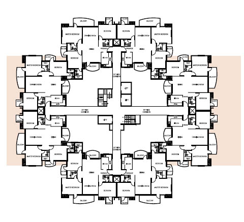 1590 Sq.Ft. Tower Layout