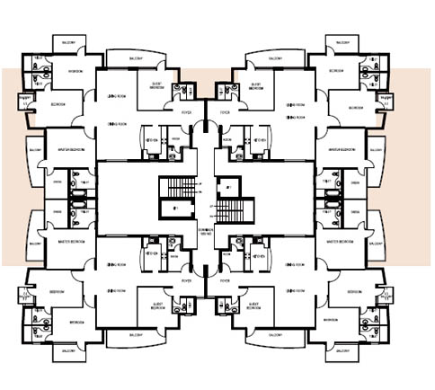 2360Sq.Ft Tower Layout