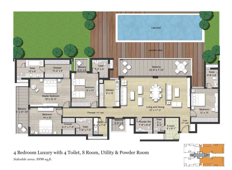 4 BHK AND SERVENT ( 3890)